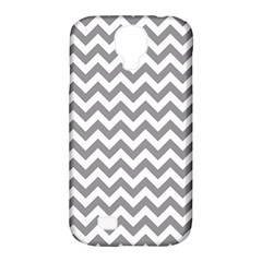 Grey And White Zigzag Samsung Galaxy S4 Classic Hardshell Case (pc+silicone) by Zandiepants