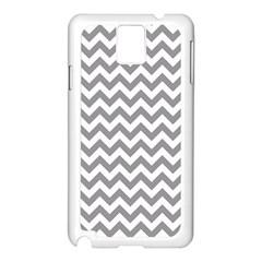 Grey And White Zigzag Samsung Galaxy Note 3 N9005 Case (white) by Zandiepants