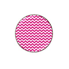 Hot Pink And White Zigzag Golf Ball Marker 10 Pack (for Hat Clip) by Zandiepants