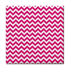 Hot Pink And White Zigzag Face Towel by Zandiepants