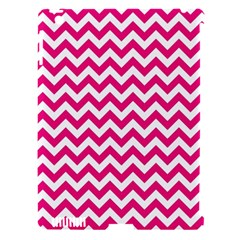 Hot Pink And White Zigzag Apple Ipad 3/4 Hardshell Case (compatible With Smart Cover) by Zandiepants