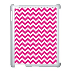 Hot Pink And White Zigzag Apple Ipad 3/4 Case (white) by Zandiepants