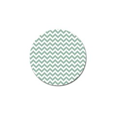 Jade Green And White Zigzag Golf Ball Marker 10 Pack by Zandiepants