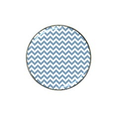 Blue And White Zigzag Golf Ball Marker 4 Pack (for Hat Clip) by Zandiepants