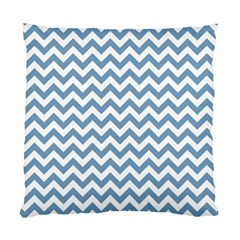 Blue And White Zigzag Cushion Case (two Sided)  by Zandiepants