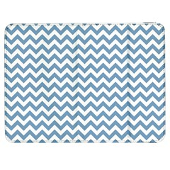 Blue And White Zigzag Samsung Galaxy Tab 7  P1000 Flip Case