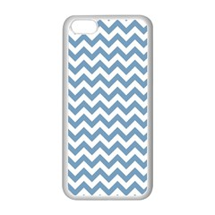 Blue And White Zigzag Apple Iphone 5c Seamless Case (white)