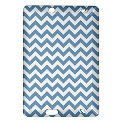 Blue And White Zigzag Kindle Fire Hd 7  (2nd Gen) Hardshell Case by Zandiepants