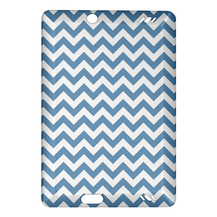 Blue And White Zigzag Kindle Fire HD 7  (2nd Gen) Hardshell Case