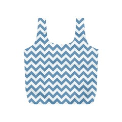 Blue And White Zigzag Reusable Bag (s) by Zandiepants