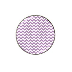 Lilac And White Zigzag Golf Ball Marker (for Hat Clip) by Zandiepants