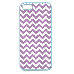 Lilac And White Zigzag Apple Seamless Iphone 5 Case (color) by Zandiepants