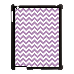 Lilac And White Zigzag Apple Ipad 3/4 Case (black) by Zandiepants