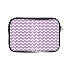 Lilac And White Zigzag Apple Ipad Mini Zippered Sleeve by Zandiepants