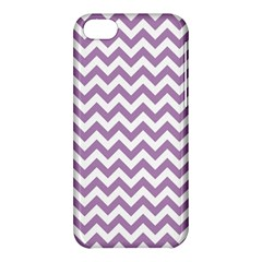 Lilac And White Zigzag Apple Iphone 5c Hardshell Case by Zandiepants