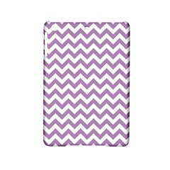 Lilac And White Zigzag Apple Ipad Mini 2 Hardshell Case by Zandiepants