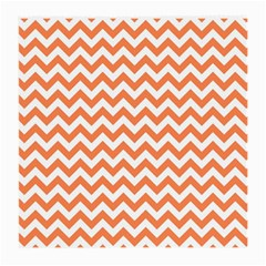 Orange And White Zigzag Glasses Cloth (medium, Two Sided) by Zandiepants