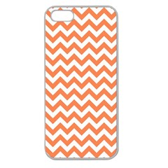 Orange And White Zigzag Apple Seamless Iphone 5 Case (clear) by Zandiepants