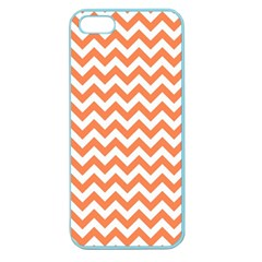 Orange And White Zigzag Apple Seamless Iphone 5 Case (color) by Zandiepants