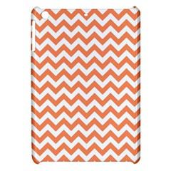 Orange And White Zigzag Apple Ipad Mini Hardshell Case by Zandiepants