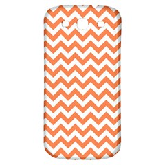 Orange And White Zigzag Samsung Galaxy S3 S Iii Classic Hardshell Back Case by Zandiepants