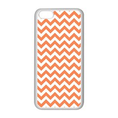 Orange And White Zigzag Apple Iphone 5c Seamless Case (white) by Zandiepants