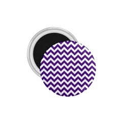 Purple And White Zigzag Pattern 1 75  Button Magnet by Zandiepants