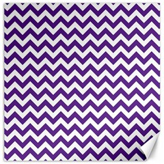 Purple And White Zigzag Pattern Canvas 20  X 20  (unframed) by Zandiepants