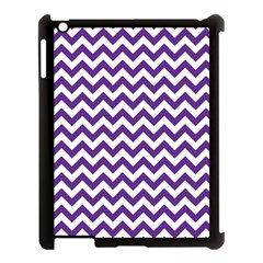 Purple And White Zigzag Pattern Apple Ipad 3/4 Case (black) by Zandiepants
