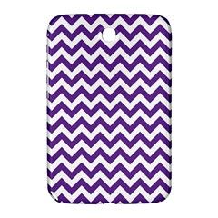 Purple And White Zigzag Pattern Samsung Galaxy Note 8 0 N5100 Hardshell Case  by Zandiepants