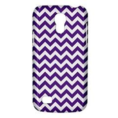 Purple And White Zigzag Pattern Samsung Galaxy S4 Mini (gt I9190) Hardshell Case  by Zandiepants