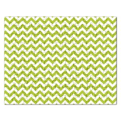 Spring Green And White Zigzag Pattern Jigsaw Puzzle (rectangle) by Zandiepants