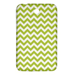 Spring Green And White Zigzag Pattern Samsung Galaxy Tab 3 (7 ) P3200 Hardshell Case  by Zandiepants