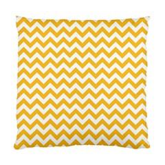 Sunny Yellow And White Zigzag Pattern Cushion Case (single Sided)  by Zandiepants