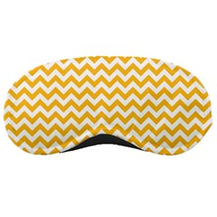 Sunny Yellow And White Zigzag Pattern Sleeping Mask by Zandiepants
