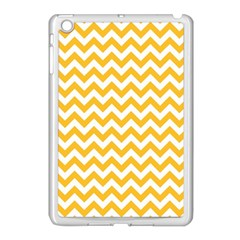Sunny Yellow And White Zigzag Pattern Apple Ipad Mini Case (white) by Zandiepants