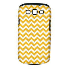 Sunny Yellow And White Zigzag Pattern Samsung Galaxy S Iii Classic Hardshell Case (pc+silicone) by Zandiepants