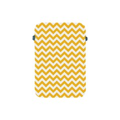 Sunny Yellow And White Zigzag Pattern Apple Ipad Mini Protective Sleeve by Zandiepants