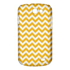 Sunny Yellow And White Zigzag Pattern Samsung Galaxy Express I8730 Hardshell Case  by Zandiepants