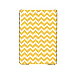 Sunny Yellow And White Zigzag Pattern Apple Ipad Mini 2 Hardshell Case by Zandiepants