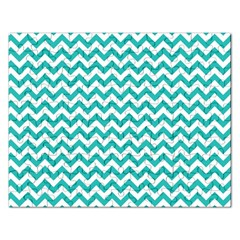 Turquoise And White Zigzag Pattern Jigsaw Puzzle (rectangle) by Zandiepants