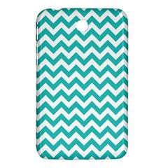 Turquoise And White Zigzag Pattern Samsung Galaxy Tab 3 (7 ) P3200 Hardshell Case  by Zandiepants