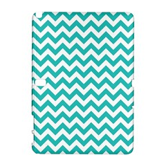 Turquoise And White Zigzag Pattern Samsung Galaxy Note 10 1 (p600) Hardshell Case