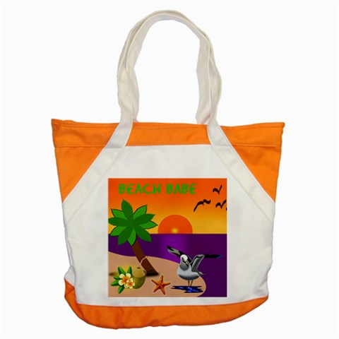 Beach Babe Beach Bag By Joy Johns   Accent Tote Bag   4oj83mlpo8zq   Www Artscow Com Front