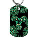Green Emerald City Fractal Design Dog Tag (Two Sides)