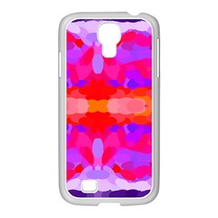 Purple, Pink And Orange Tie Dye  By Celeste Khoncepts Com Samsung Galaxy S4 I9500/ I9505 Case (white)