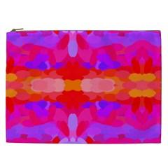 Purple, Pink And Orange Tie Dye  By Celeste Khoncepts Com Cosmetic Bag (XXL)