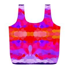 Purple, Pink And Orange Tie Dye  By Celeste Khoncepts Com Reusable Bag (l) by Khoncepts