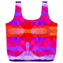 Purple, Pink And Orange Tie Dye  By Celeste Khoncepts Com Reusable Bag (XL) by Khoncepts