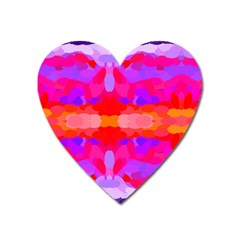 Purple, Pink And Orange Tie Dye  By Celeste Khoncepts Com Magnet (Heart) by Khoncepts